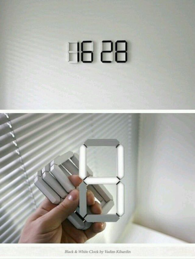 Stick anywhere digital clock #minimalbedroom