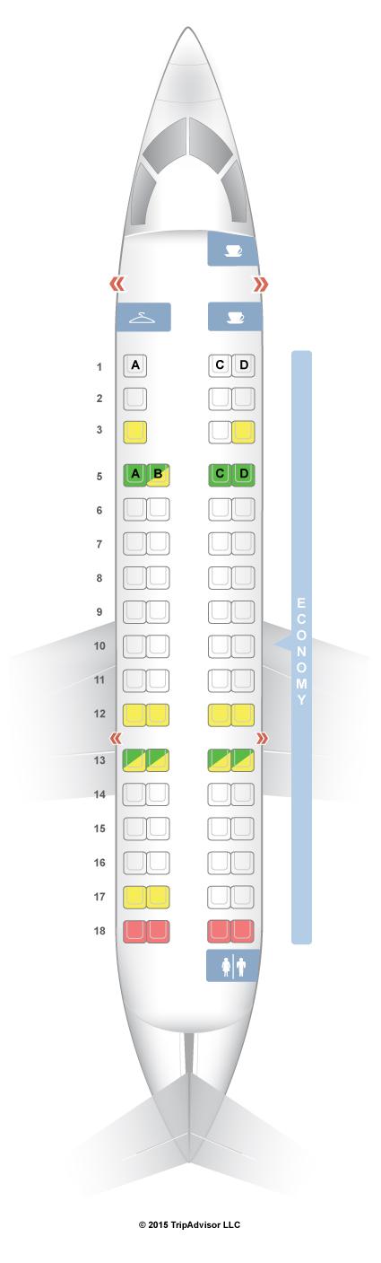 Seatguru Seat Map American Airlines Bombardier Crj 700 Cr7 V2 American Airlines Airlines Seatguru