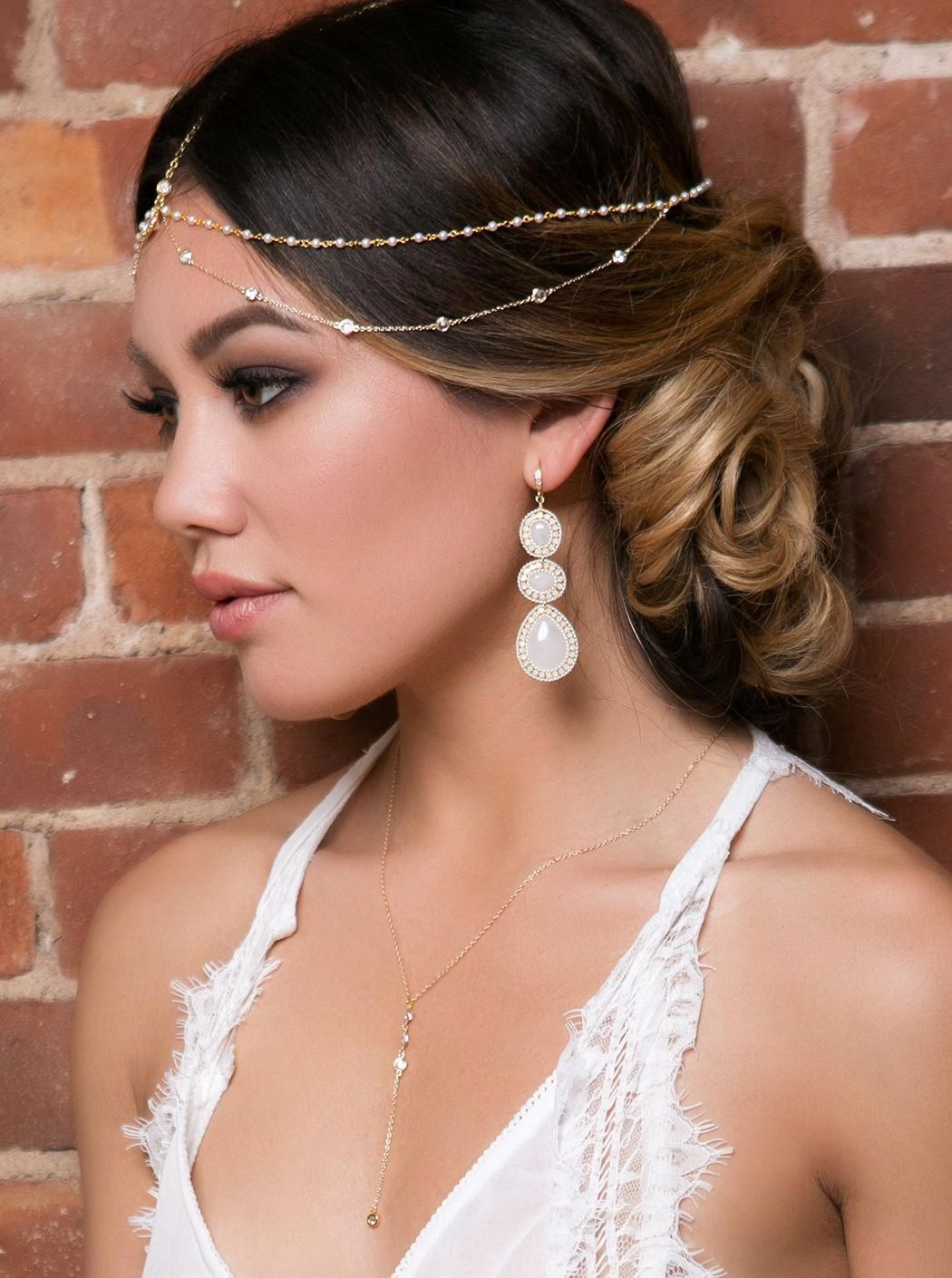 Dakota Pearl and Crystal Headpiece