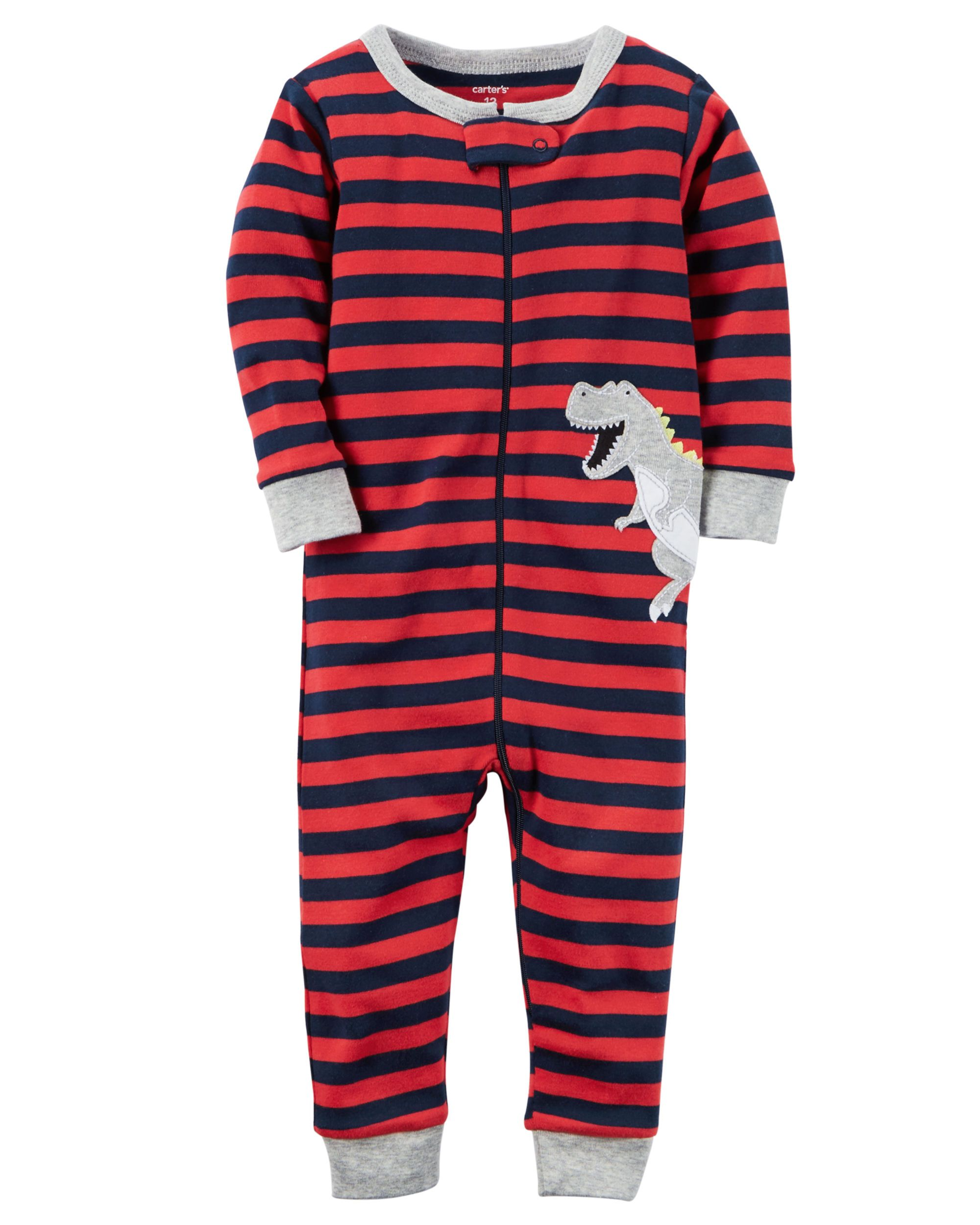 90ed9add4 1-Piece Snug Fit Cotton Footless PJs