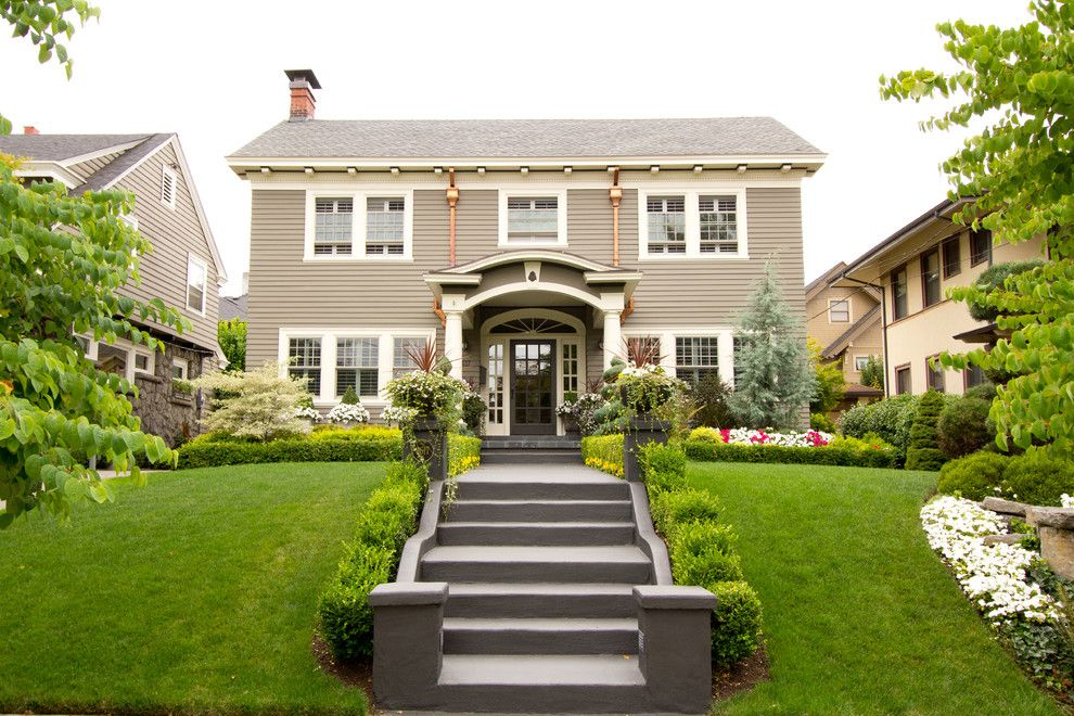 Portico Dutch Colonial Engaging Double Hung Window Home Renovations Image Credit And Contact With Images Colonial Exterior Traditional Exterior Porch Design