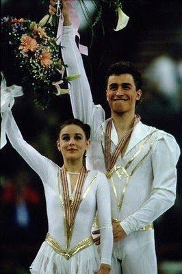 A HEARTBREAKING LOVE STORY - EKATERINA GORDEEVA AND SERGEI GRINKOV ... IN HAPPY DAYS-WHEN THEY WON THEIR THIRD WORLD CHAMPIONSHIP IN PARIS,1989.