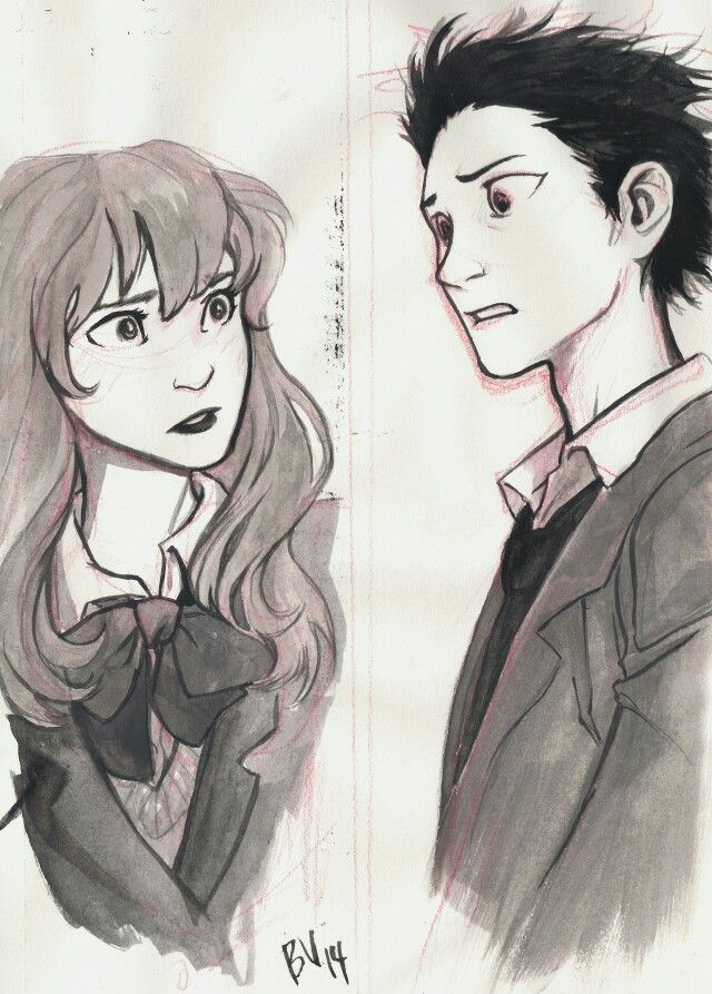 Who Is This This Is From A Manga About A Deaf Girl And The Guy Bullied Her But Ended Up Falling For Her Years Later Character Art Cute Drawings Art