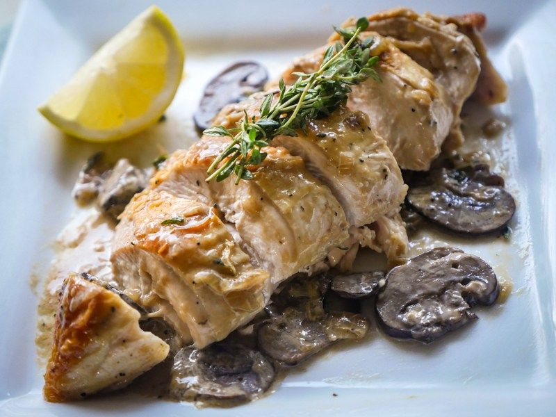 Pan Roasted Chicken Breast With Creamy Mushroom Sauce One My My Favorite Whole 30 Recipes