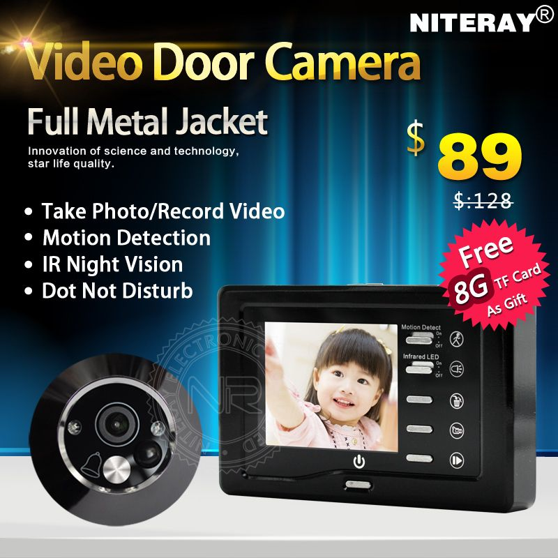front door video cameraHot Sales Motion Detect Front Door Camera Video Peephole Door