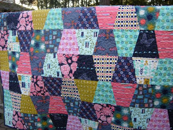 Cotton and Steel Quilted Throw Tumbler Lap Quilt Quilts made from ... : quilted lap throws - Adamdwight.com