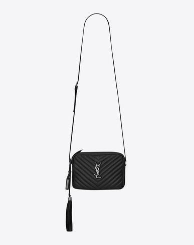 durable service distinctive design super cheap SAINT LAURENT SMALL LOU CAMERA BAG IN BLACK MATELASSÉ ...