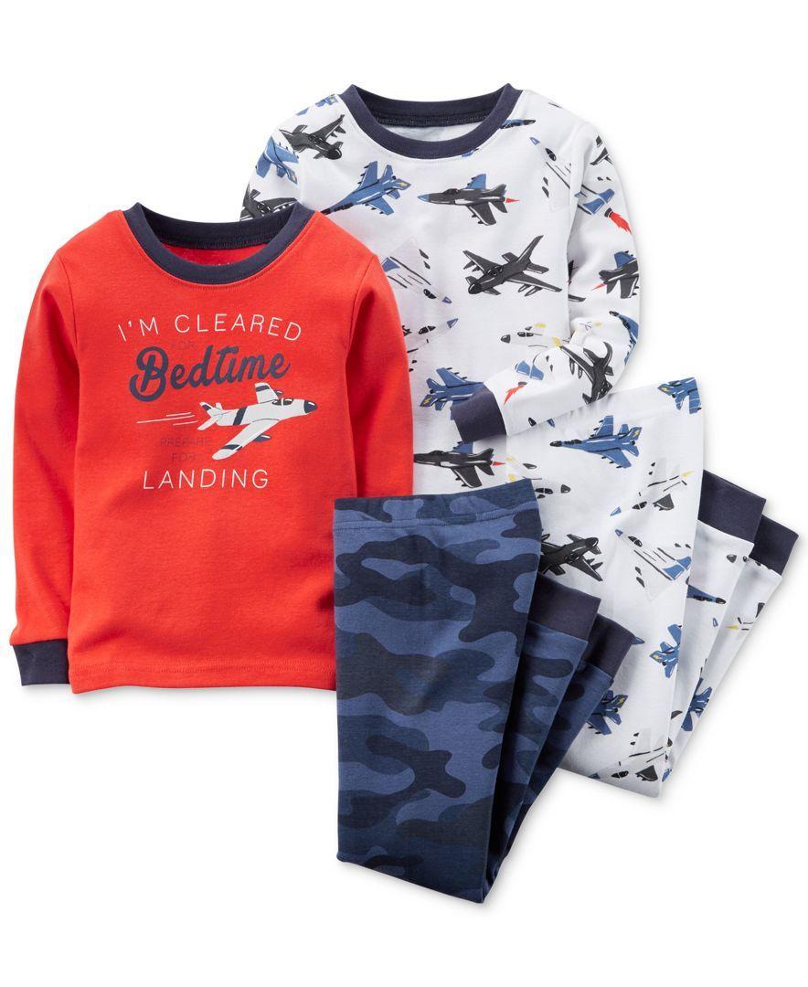 06874f9ef Carter s Baby Boys  4-Piece Airplane Pajamas