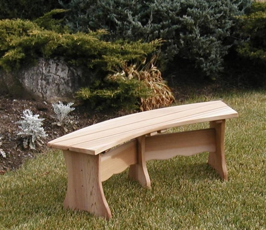 Unique Curved Wooden Bench for Garden and Patio | Outdoor gardens ...