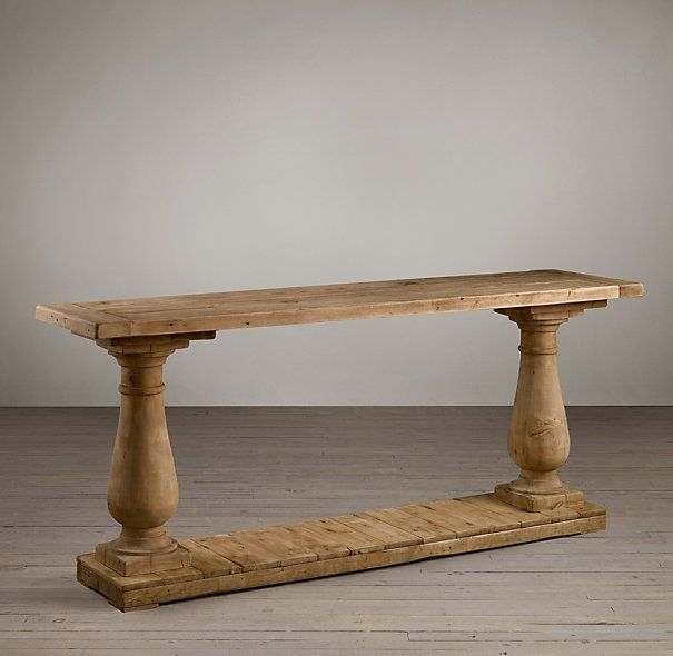 Balustrade Salvaged Wood Console Table Wood Console Table Wood Console Salvaged Wood