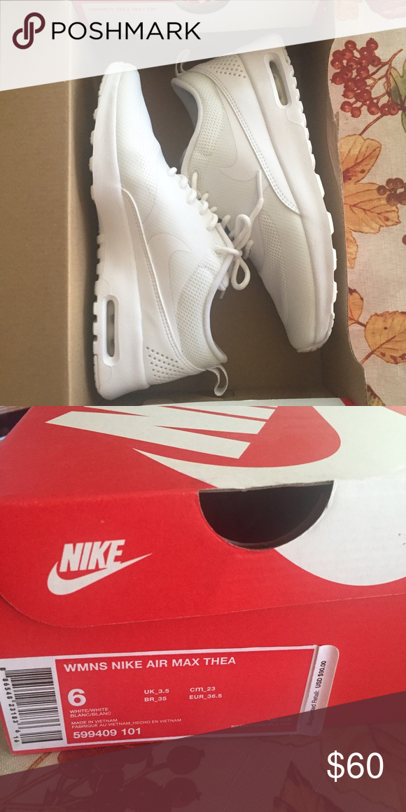 Women's Nike Air Max Thea Size 6 (White