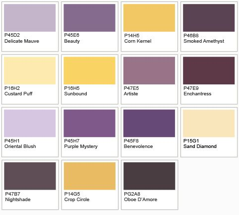 Green Gray Purple Yellow Color Schemes