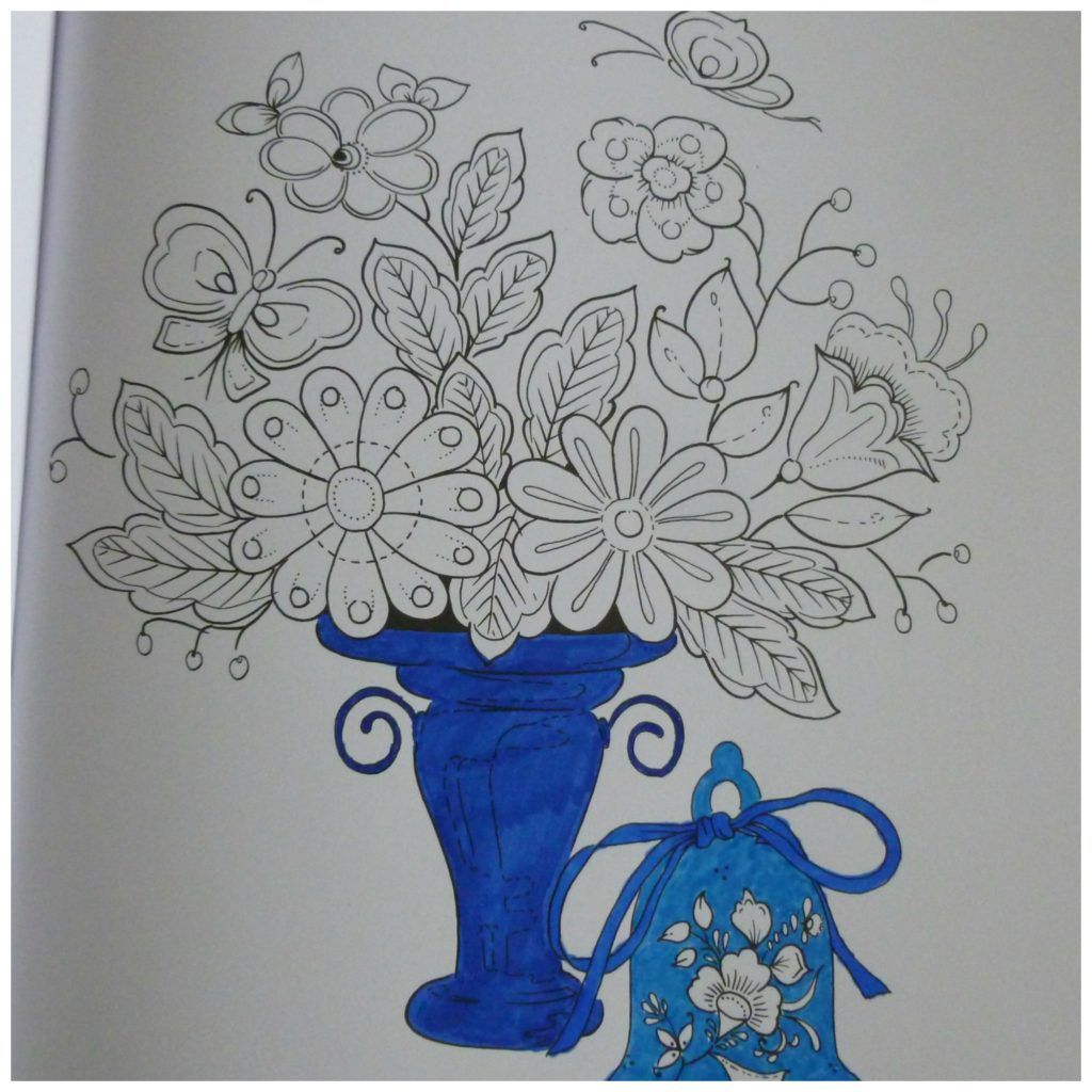 Delfst Blauw Flora Fauna Kleurboek Recensie Kleurboek Kleurpotloden Flora