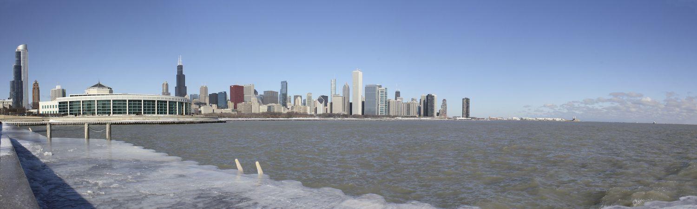 Chicago City Skyline Shedd Aquarium City skyline