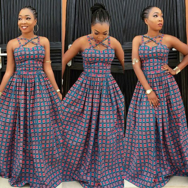 8a0ea39a4eca Creative Ankara Long Gown Design for Ladies - DeZango Fashion Zone