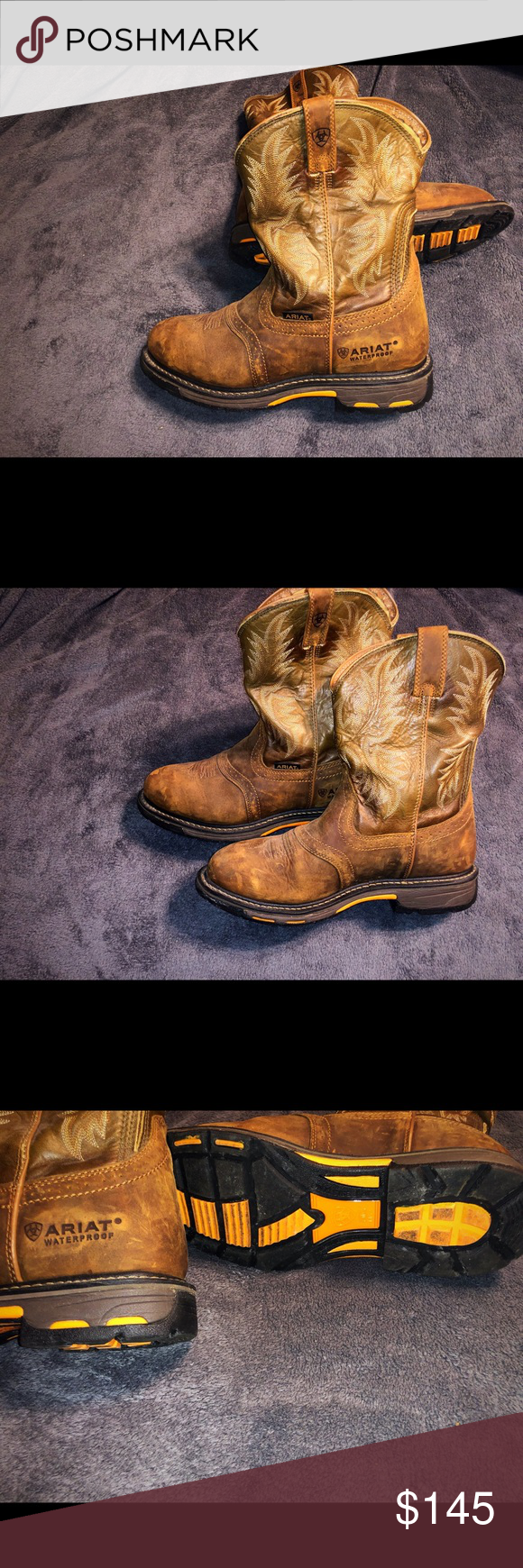 Mens Ariat Men S Workhog Wp Work Boots Size 11 Ee Men S Ariat Work Boots Worm Twice In Perfect Condition No Stains Or Scuff Work Boots Ariat Work Boots Boots