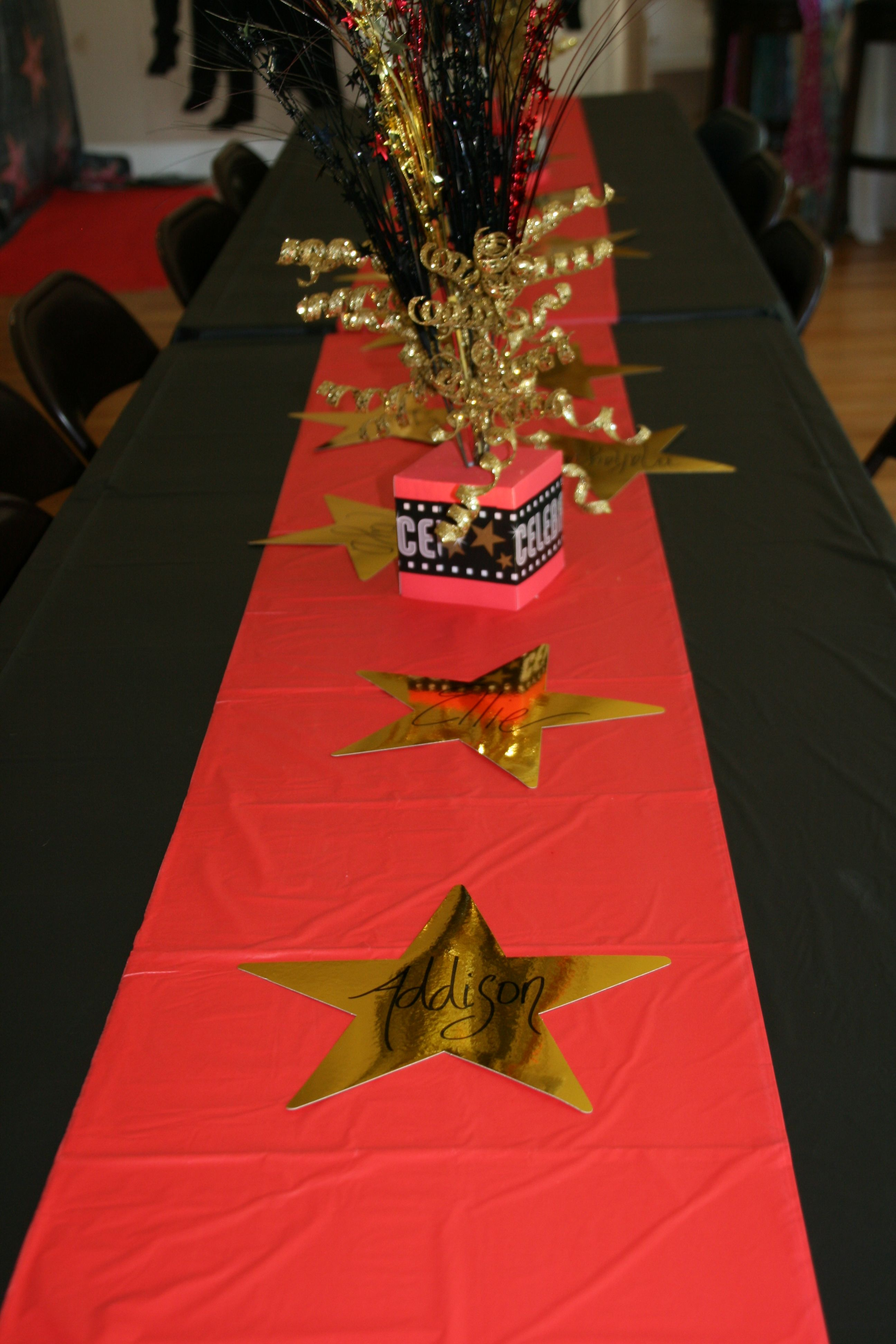 Red Carpet Party Decor