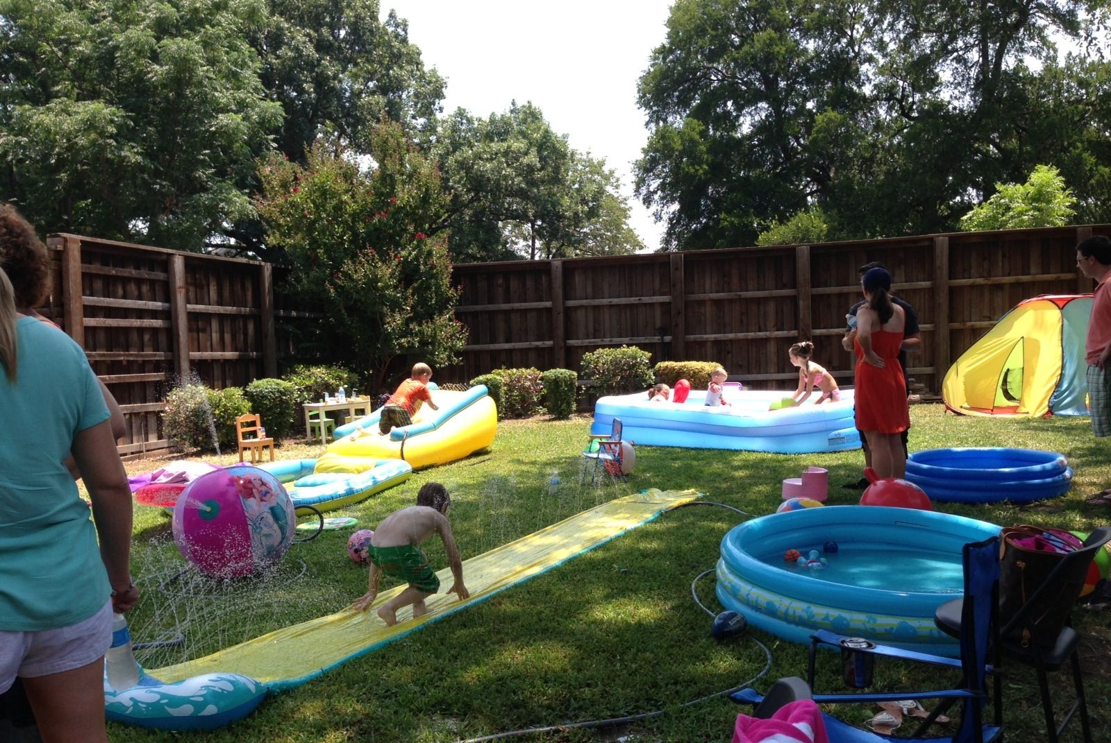 Backyard set up future birthday party ideas pinterest for Garden pool party ideas