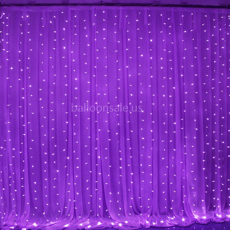 3m 18m Led Purple Fairy Lights Curtain Backdrop For Wedding