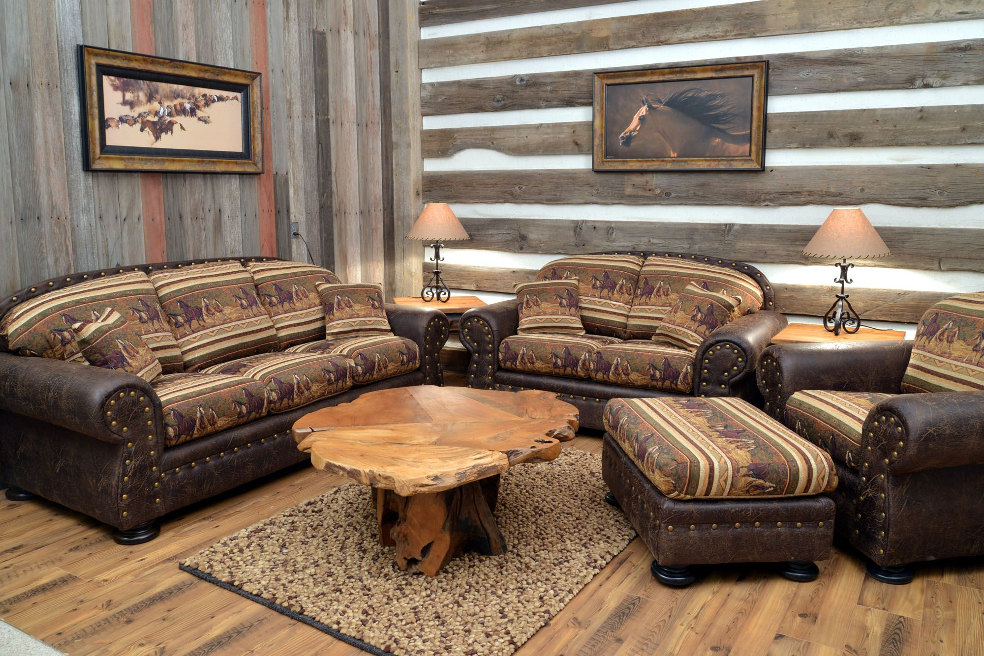 Western Furniture Cabin Furniture From Back At The Ranch Western Living Rooms Western Living Room Furniture Living Room Decor Rustic
