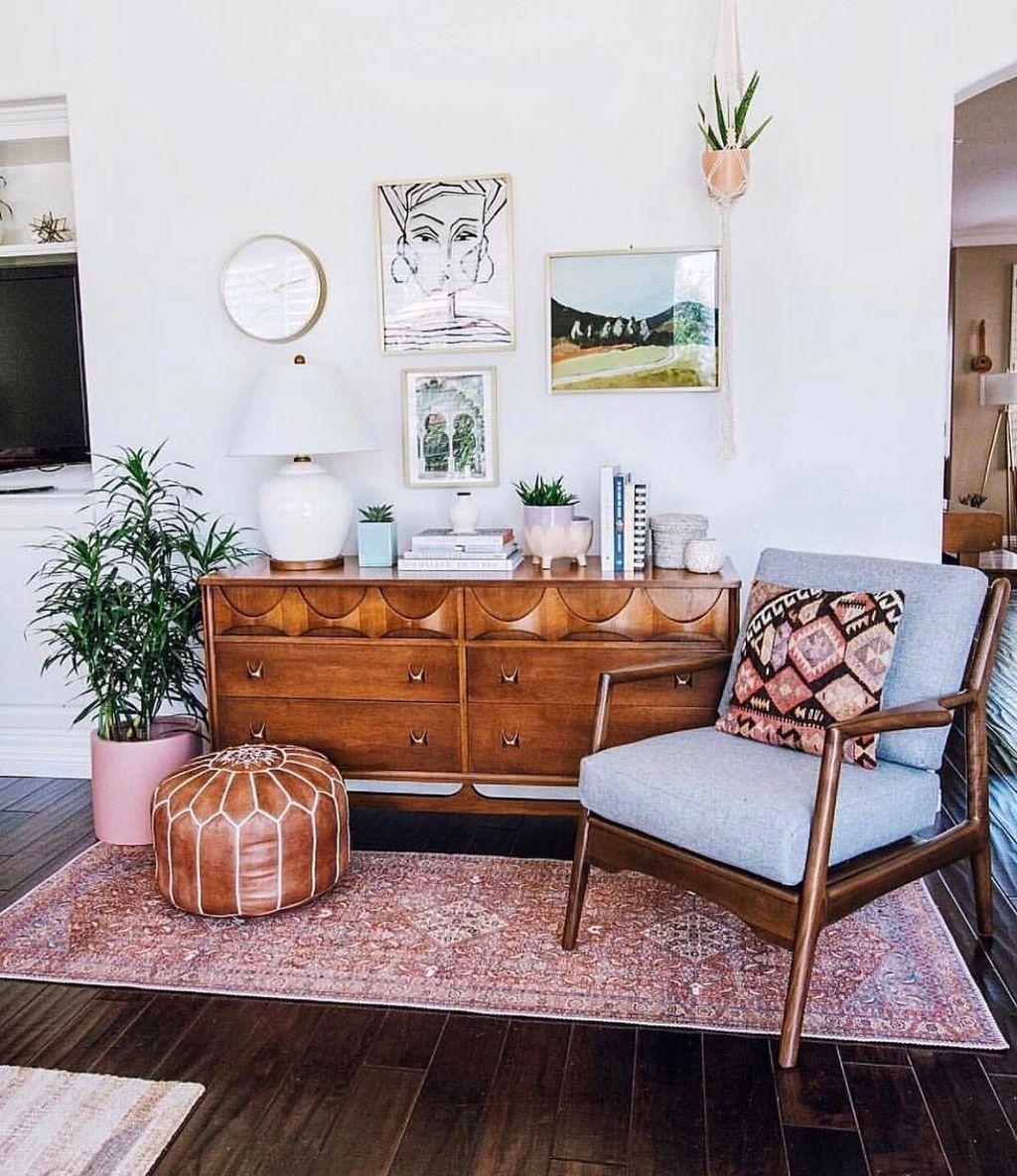 title   Neutral Boho Living Room