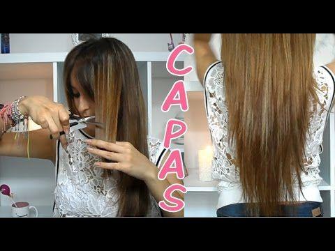 Desfilar El Cabello How To Trim Your Hair Diagonally Youtube Long Fine Hair Diy Hairstyles Long Layered Haircuts