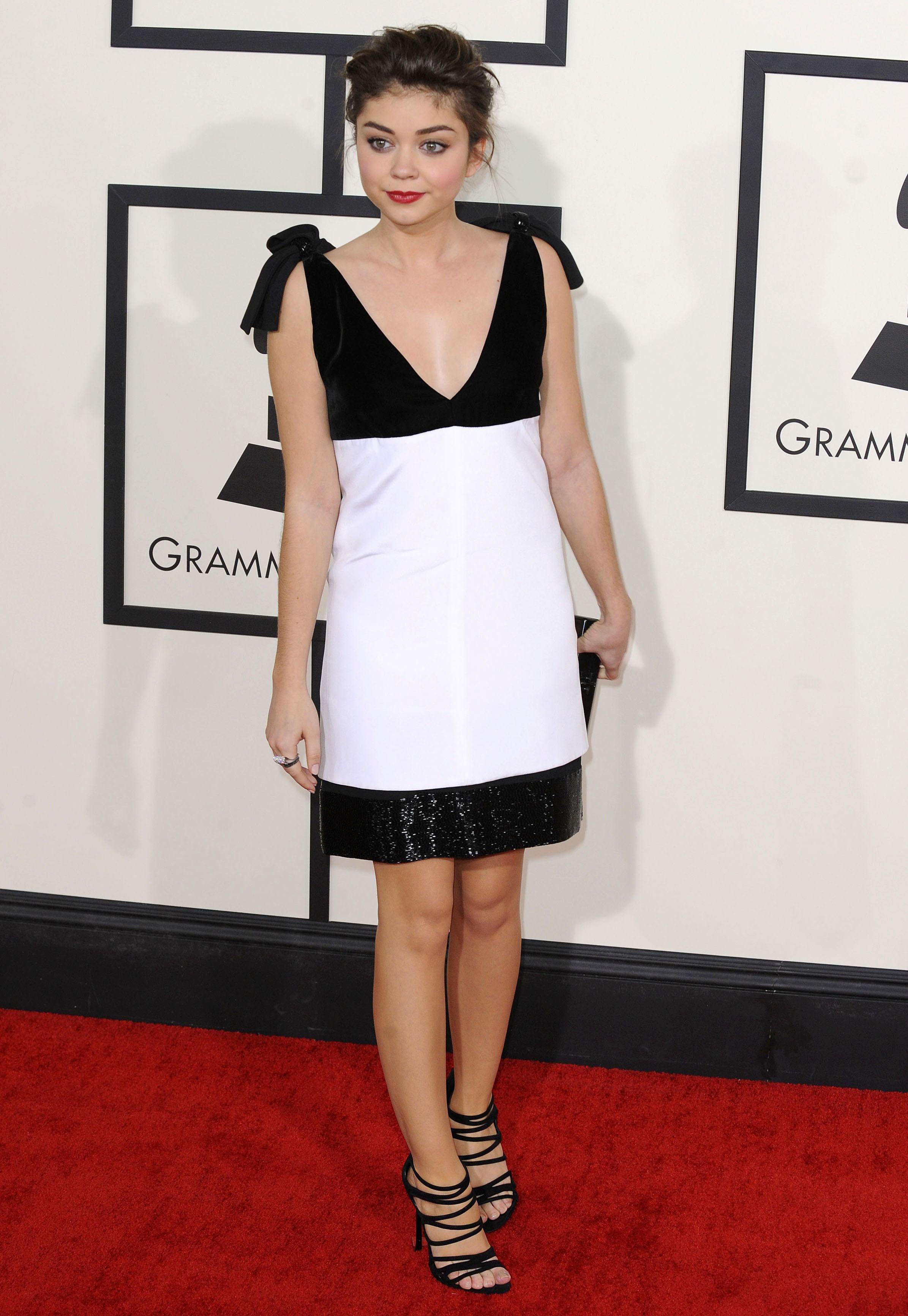 Sarah Hyland - Grammys 2014 Red Carpet