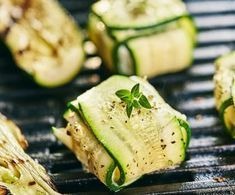 Photo of Grilled parcels of zucchini and goat cheese
