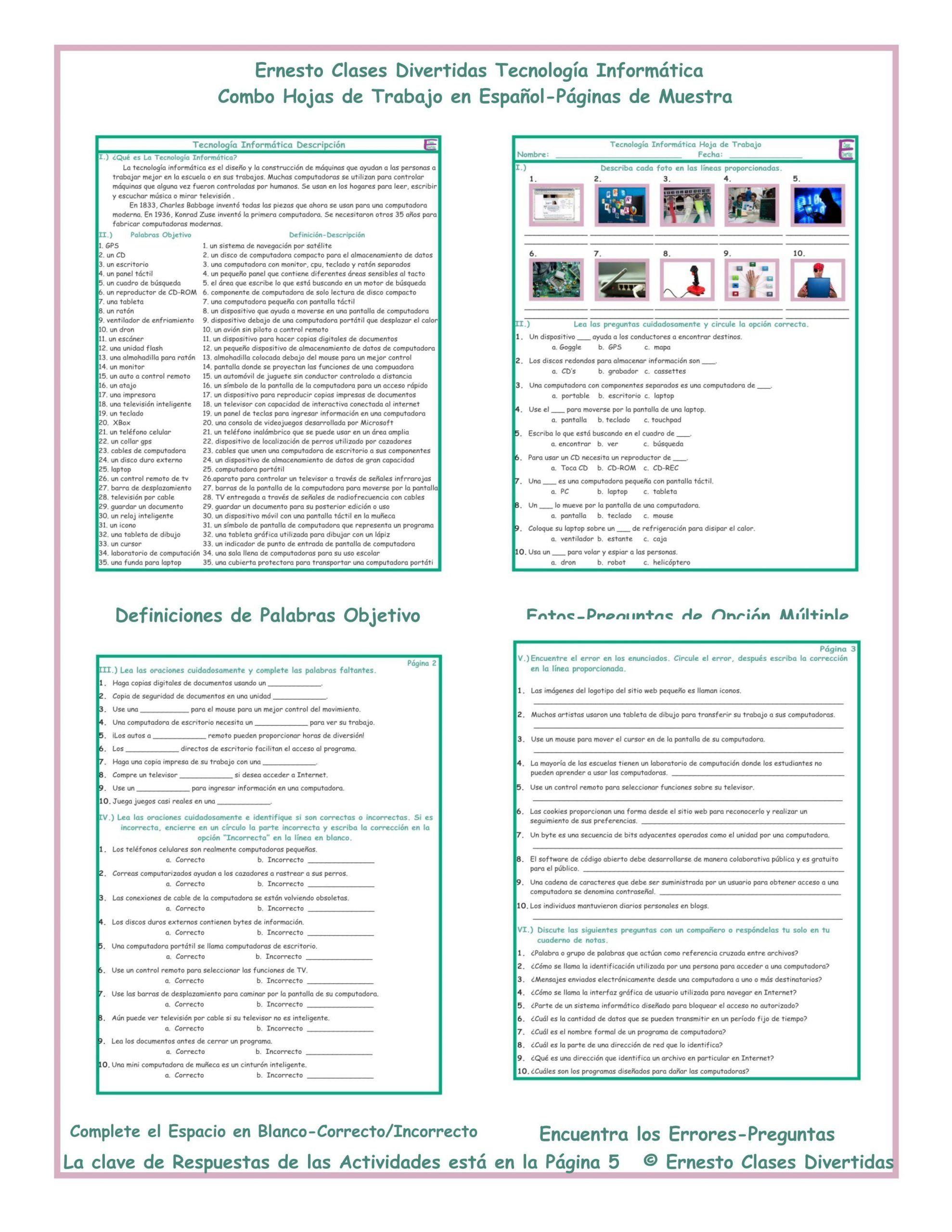 Technology Worksheets For Middle School Puter Technology