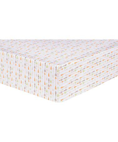 Another great find on #zulily! Deer Lodge Arrows Fitted Crib Sheet #zulilyfinds