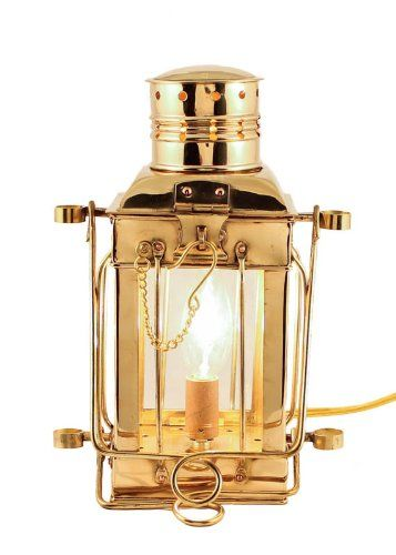 Electric Lamps Brass Cargo Lamp 10 Nautical Lantern You Can Get More Details By Clicking On The Image This Is An Affiliate Lin Electric Lamp Oil Lamps