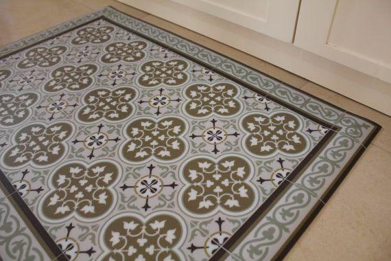 Ocher Brown Free Oriental Maroccan Design Livingroom Decor Bathroom Mat Waterproof Vinyl Floor Mat Easy To Clean Custom Size 174 Vinyl Floor Mat Colorful Rugs Tile Patterns