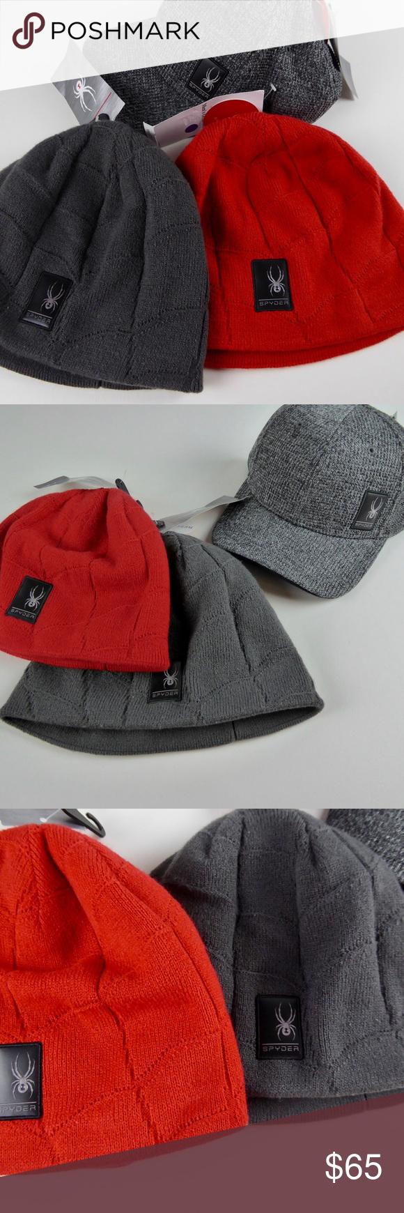57c8671aca9 Spyder Nebula Beanie   Stryke Fleece Cap Set NWT Spyder 🕷 Hat Set 🕷Spyder  design