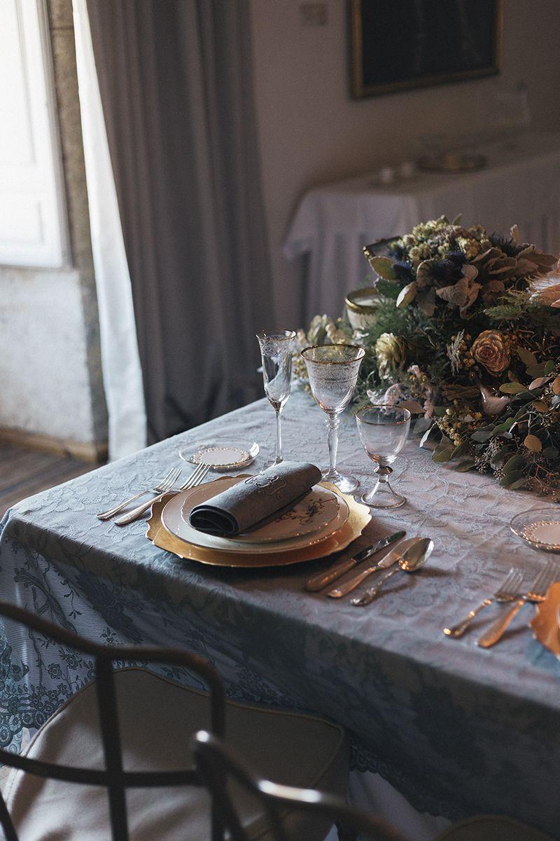Deco inspiración de una boda de invierno en Palacio de Montarco, de Las Bodas de Araventum. Foto Verde Oliva