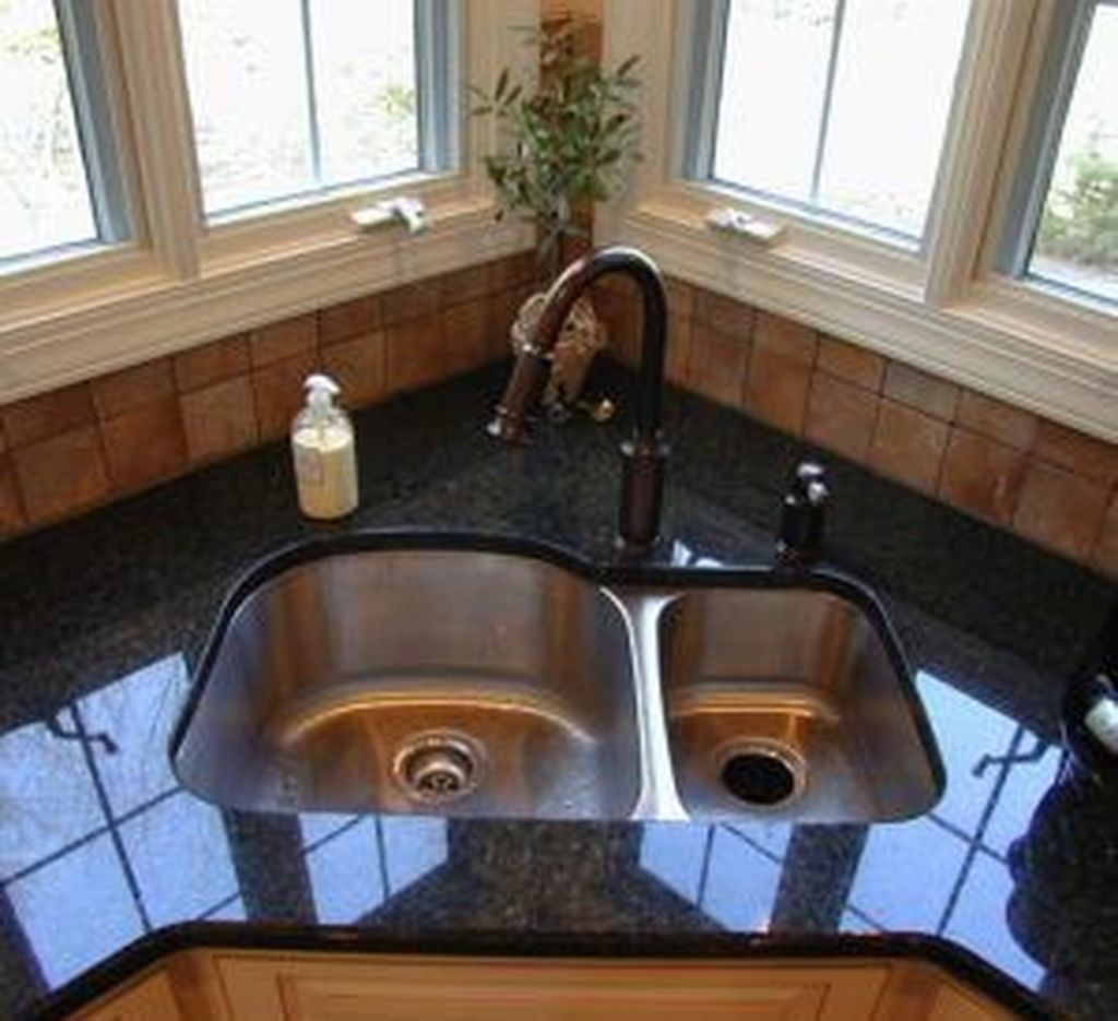 Awesome 48 Gorgeous Kitchen Sink Design Ideas Corner Sink Kitchen Kitchen Sink Design Corner Sink
