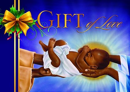 Gift of love african american christmas cards - African american christmas images ...