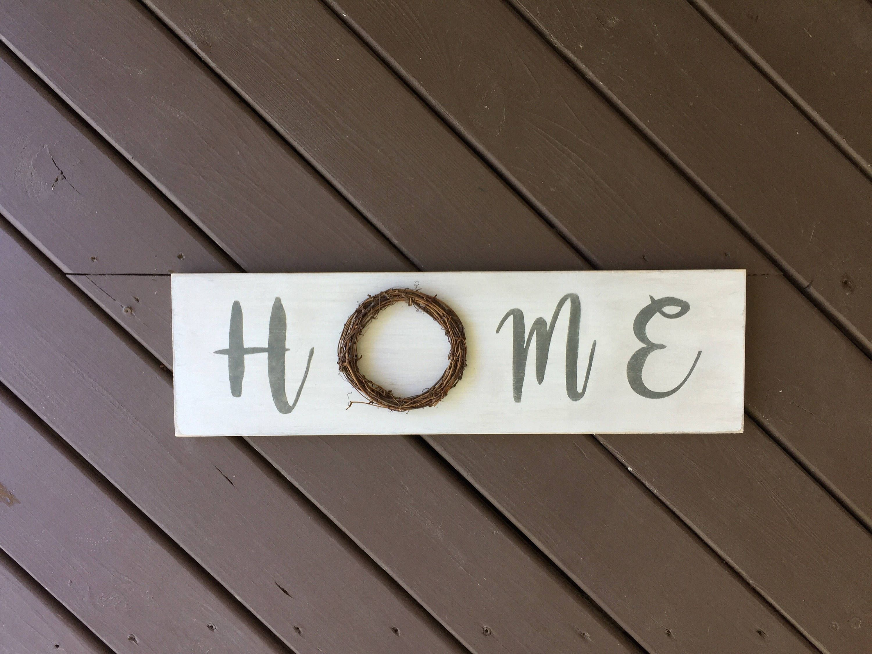 Home Wood Sign, Personalized Wood Sign, Wreath Signs, Home Decor, Custom  Wood Signs, Wood Signs, Kitchen Signs, Wall Decor, Farmhouse Signs