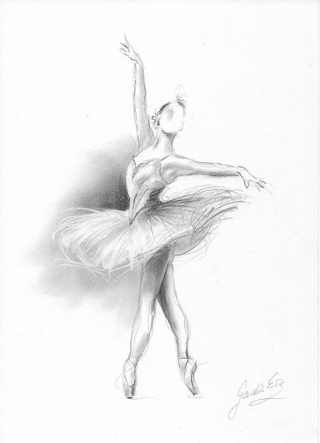 Ballerina Print, Ballerina Sketch, Print of Drawing, Picture Ballerina, Ballet Dancer, Ballerina Wall Art, Girl Room Decor, Gift for Girl #girlrooms