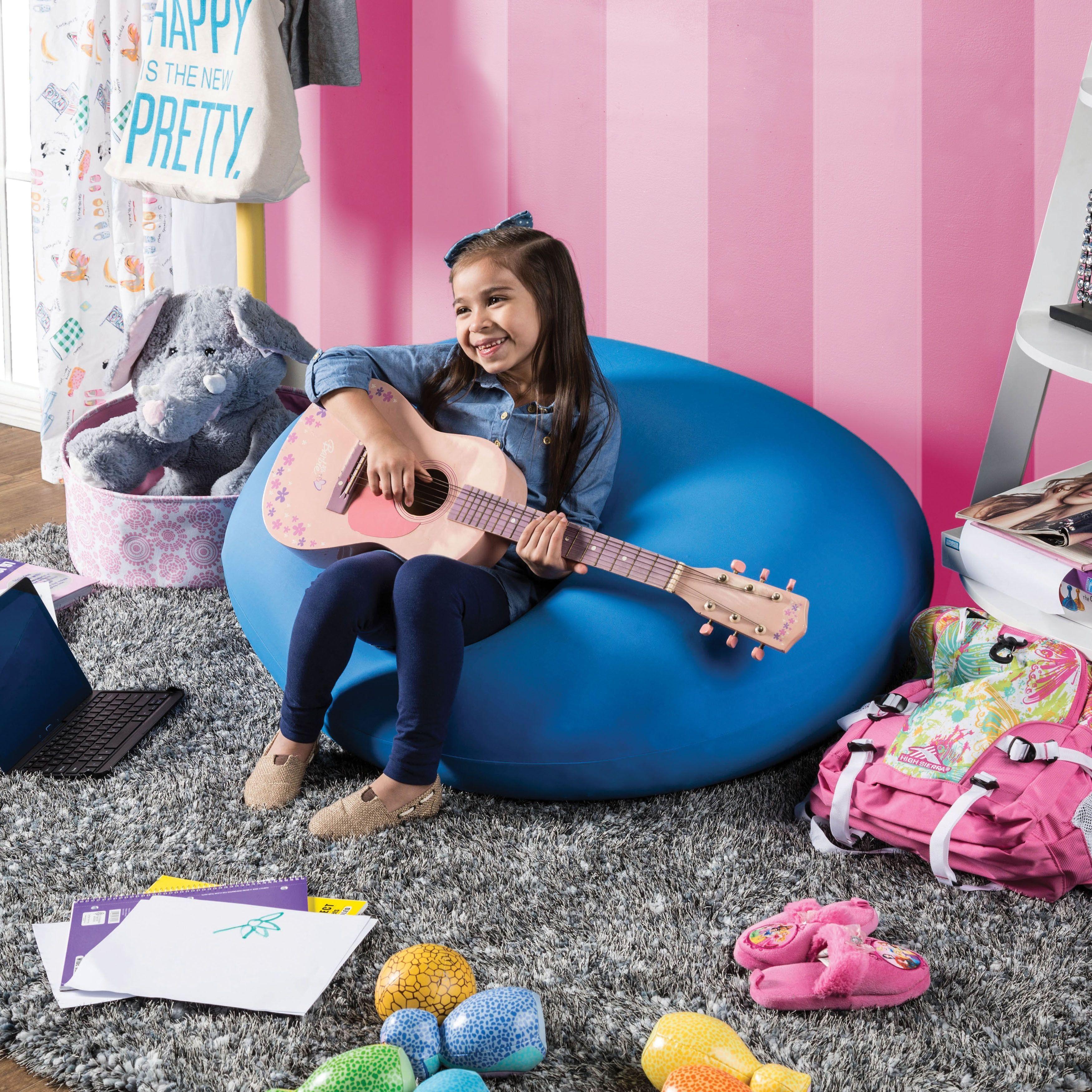 Furniture of America Lanie Medium Expandable Bean Bag (Blue) (Poly Synthetic Fiber)