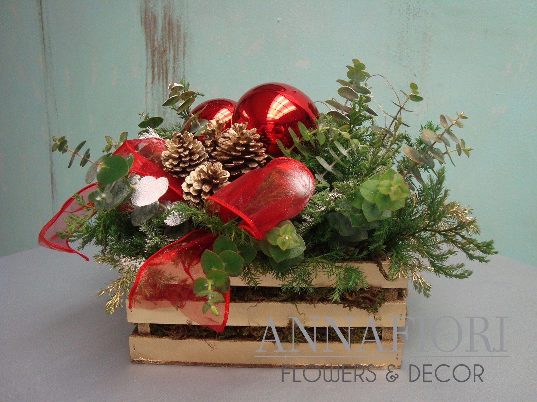 8 hermosos centros de mesa navide os hechos en tonos rojos - Centros de mesa navidenos hechos a mano ...
