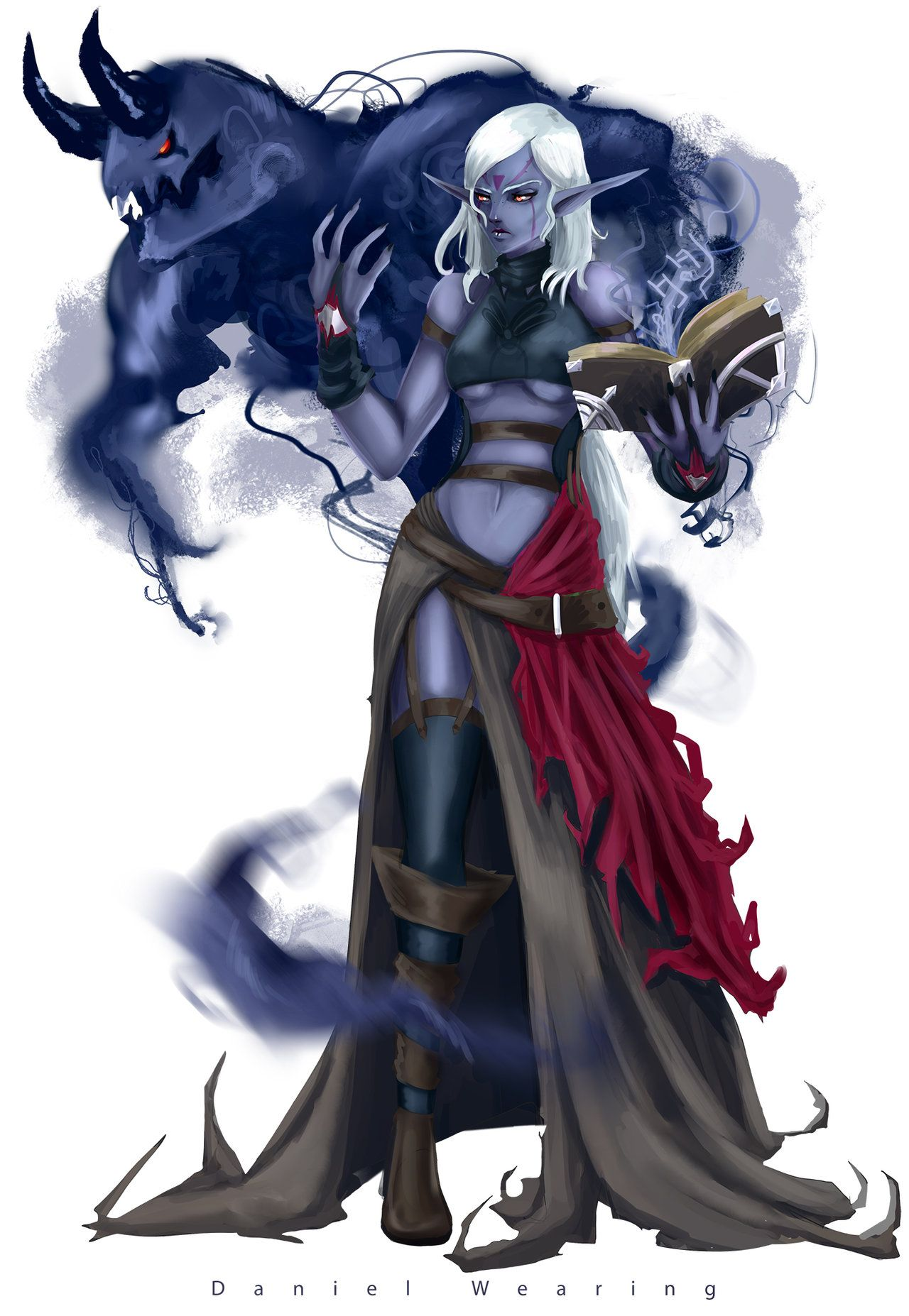 Drow Summoner Dark Elf Elves Fantasy Fantasy Artwork