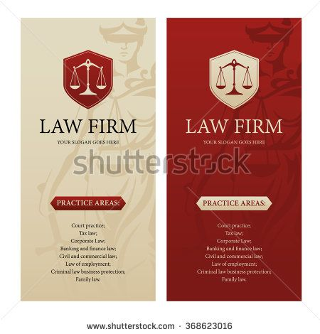 Vertical design template for law office, firm or company with - law firm brochure