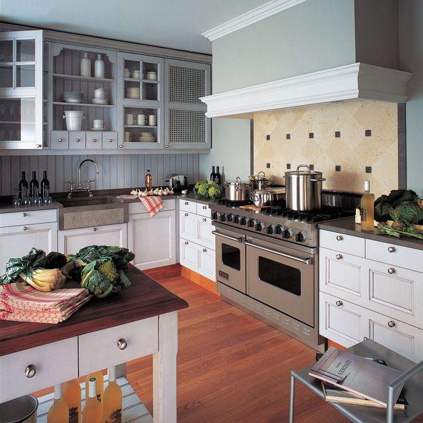 Cuisine  style maison de campagne en bois Decoration