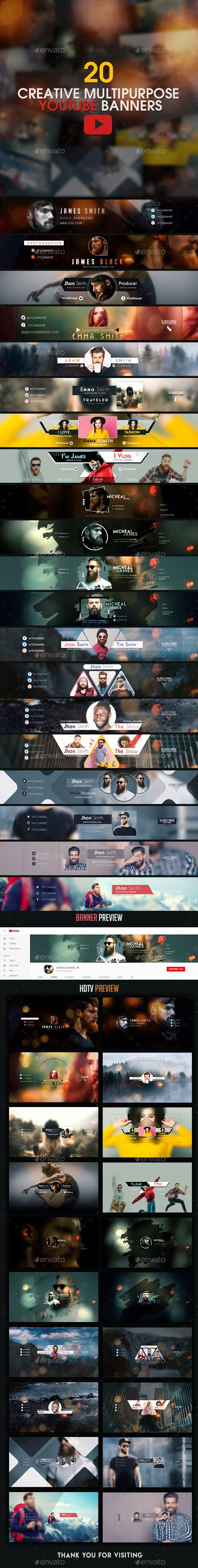 20 best youtube gaming banner templates – Artofit