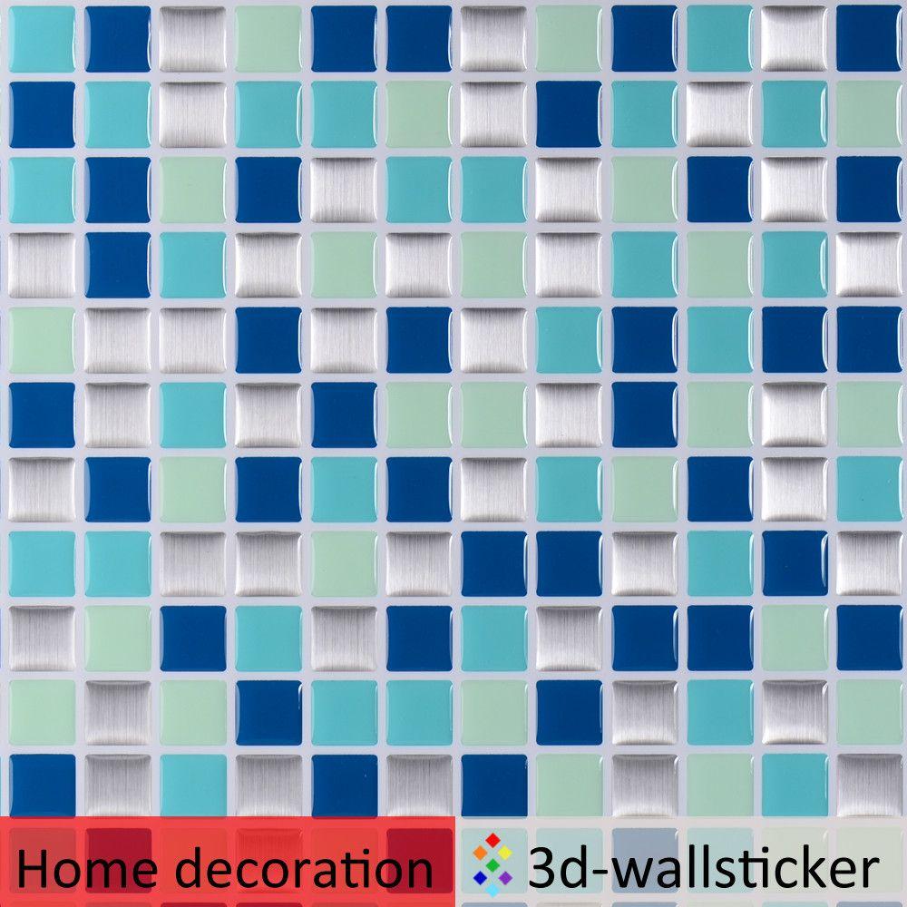 فو تصميم بلاط السيراميك بلاط الحائط قشر وعصا الفينيل خلفيات والمطابخ تحول و الجدار الديكور صورة خلفي Self Stick Vinyl Tile Wall Decal Sticker Mosaic Wall Tiles