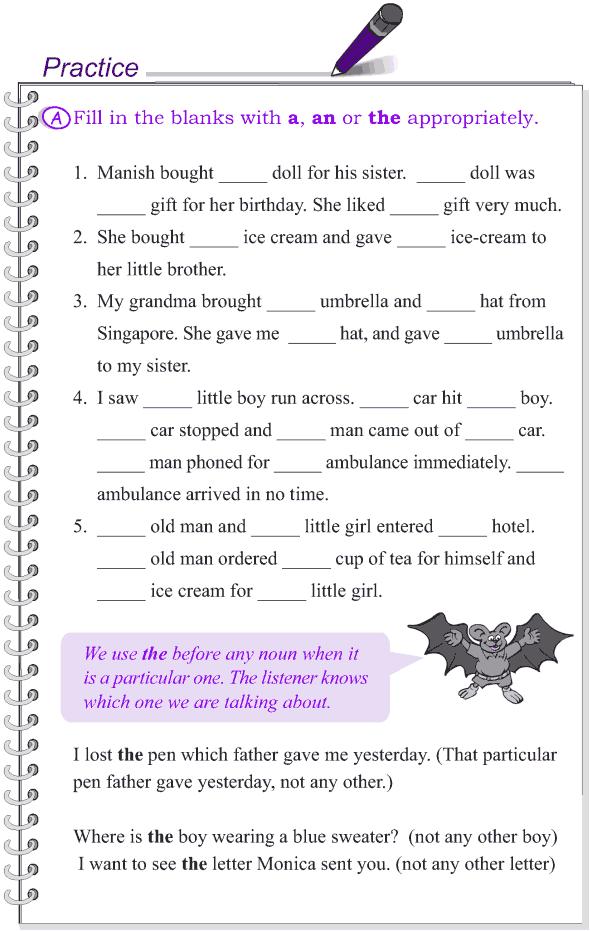 Grade 4 Grammar Lesson 12 Articles 2 Grammar Lessons