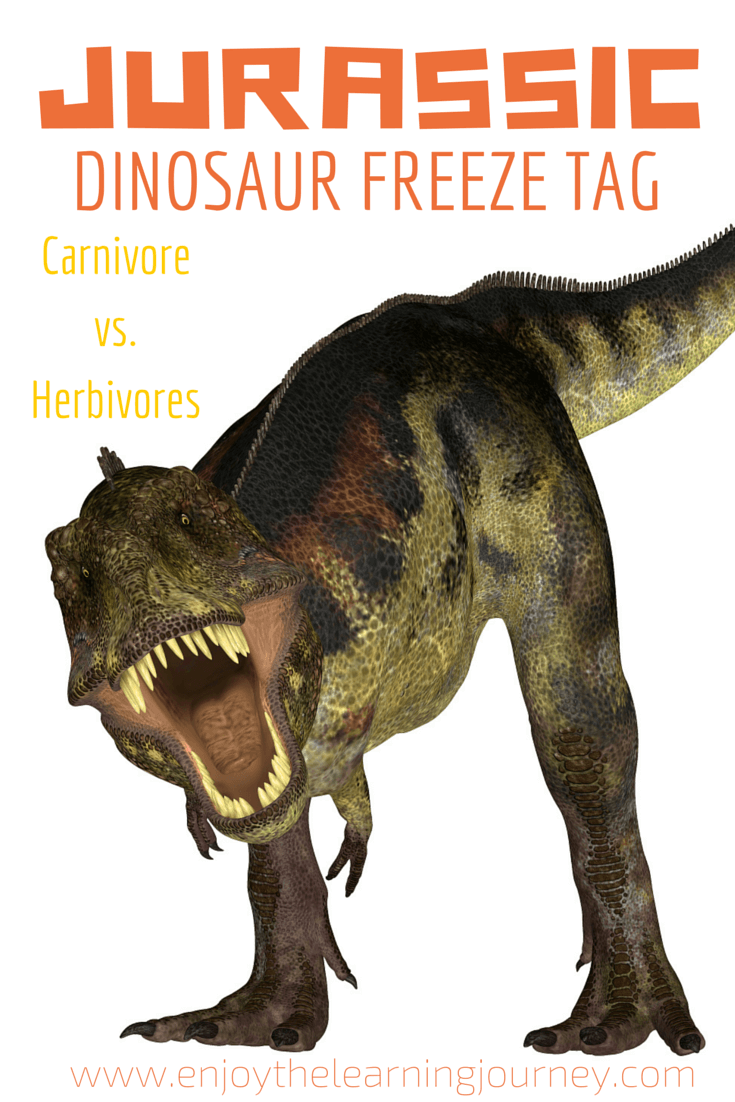Jurassic Dinosaur Freeze Tag With Free Printable Fact Sheet