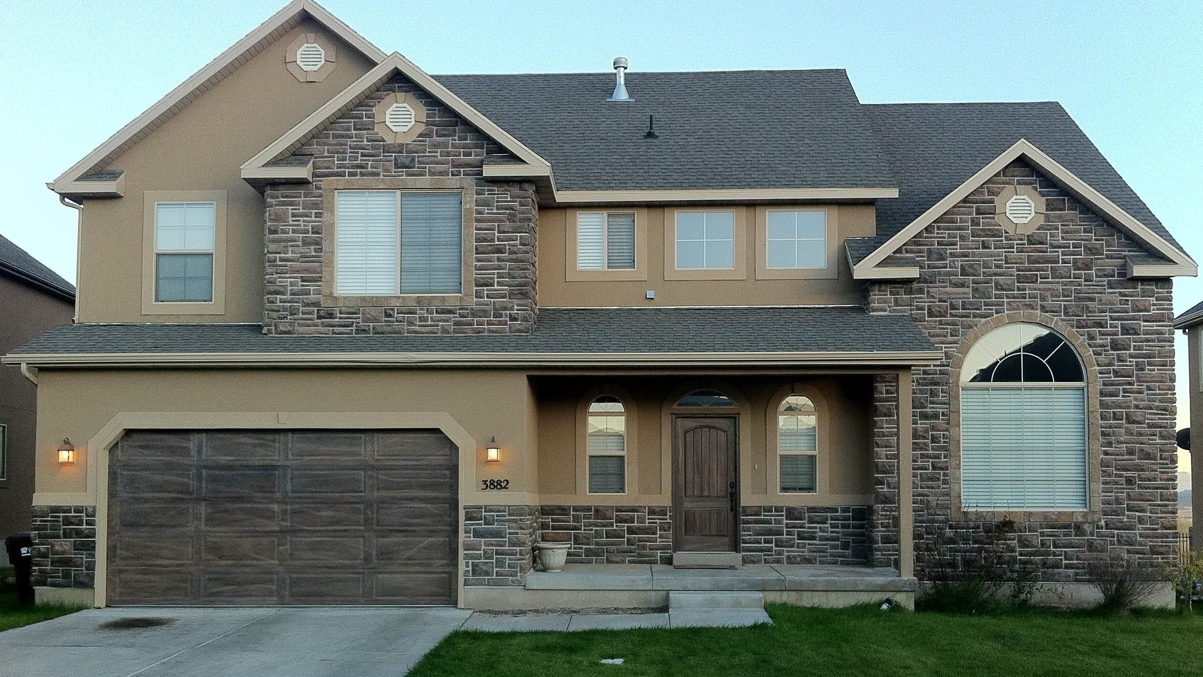 Image result for grey stone and stucco exterior houses | Projects to ... for Modern Brick And Stucco House  70ref