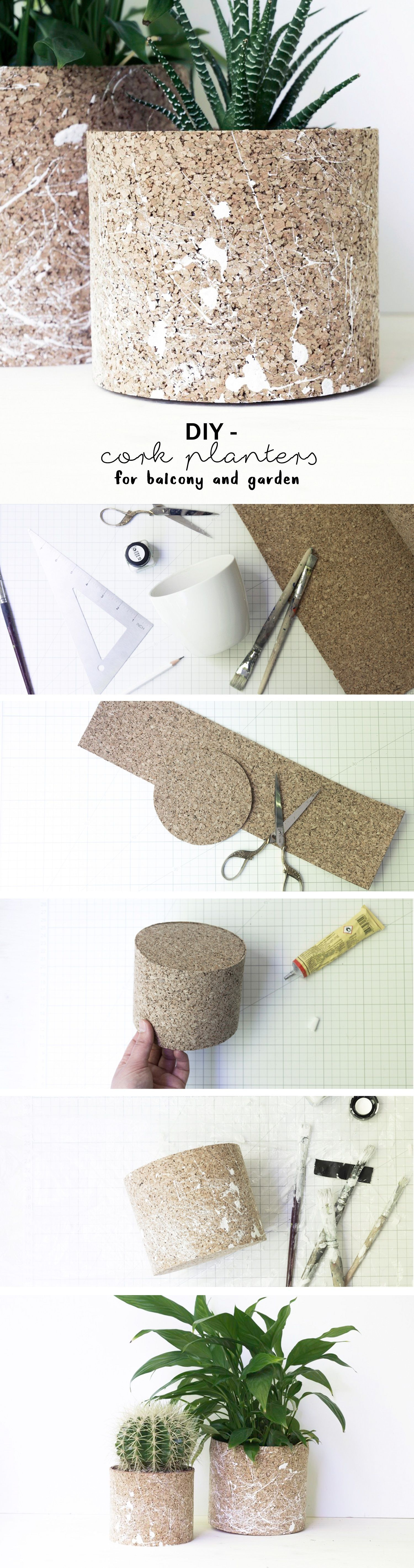 kork pflanzt pfe selber machen balkondeko gartenideen pinterest. Black Bedroom Furniture Sets. Home Design Ideas