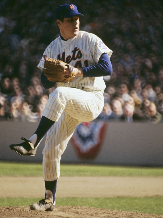 "New York Mets Tom Seaver 1973 Shea Stadium 8/"" x 10/"" Photo"